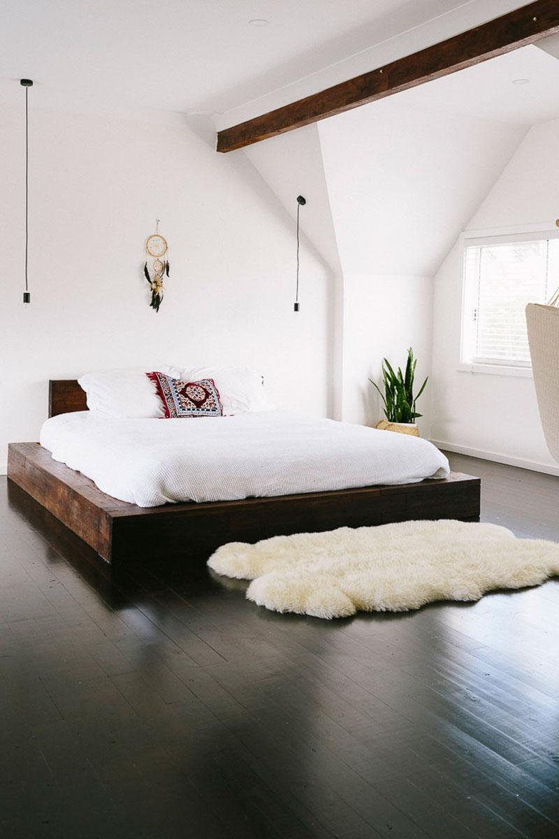platform bed bedroom