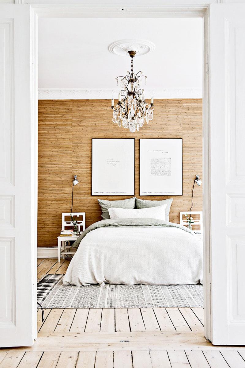 Bedroom chandelier wood