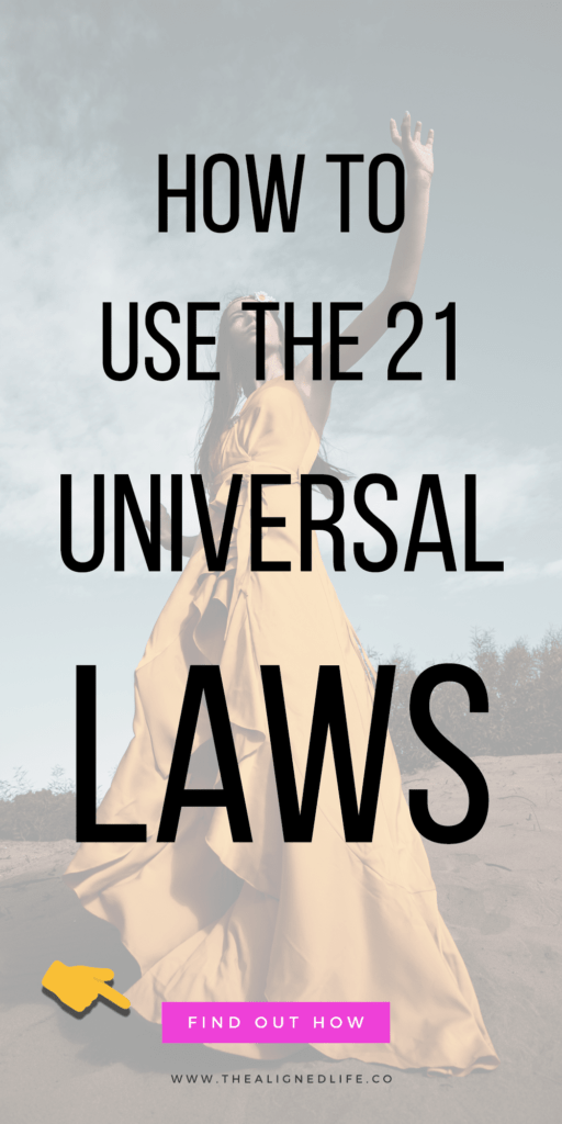 girl with her hand up and text that reads How To Use Universal Laws