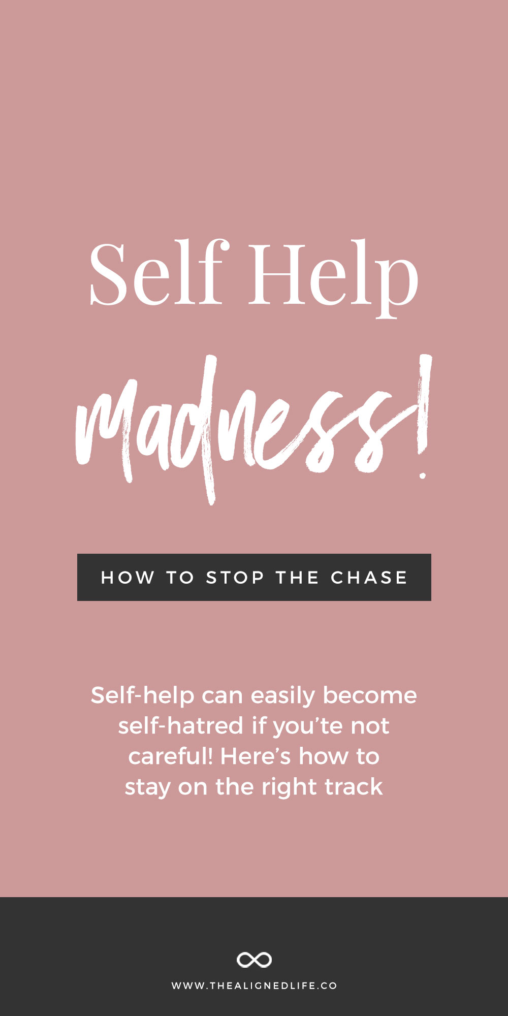self help madness  how to stop the chase