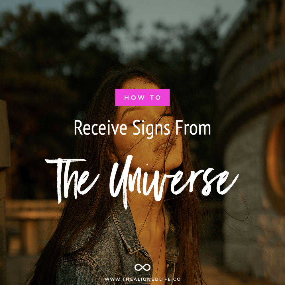 woman with eyes closed & How To Receive Signs From The Universe