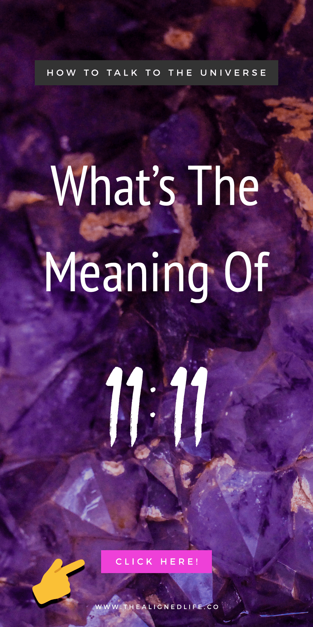 crystals with text that read What's The Meaning Of 1111?