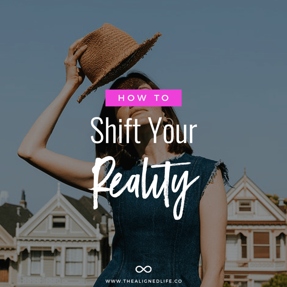 girl with hat and text How To Shift Your Reality
