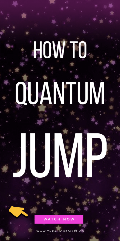 purple flecked background with text that reads How To Quantum Jump