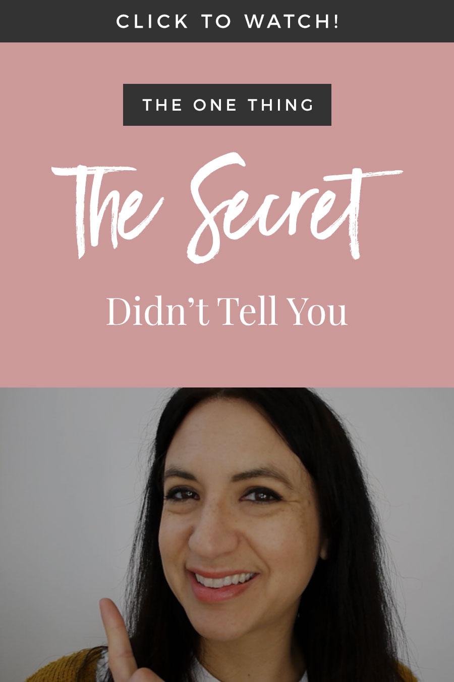 The One Thing The Secret Didn't Tell You