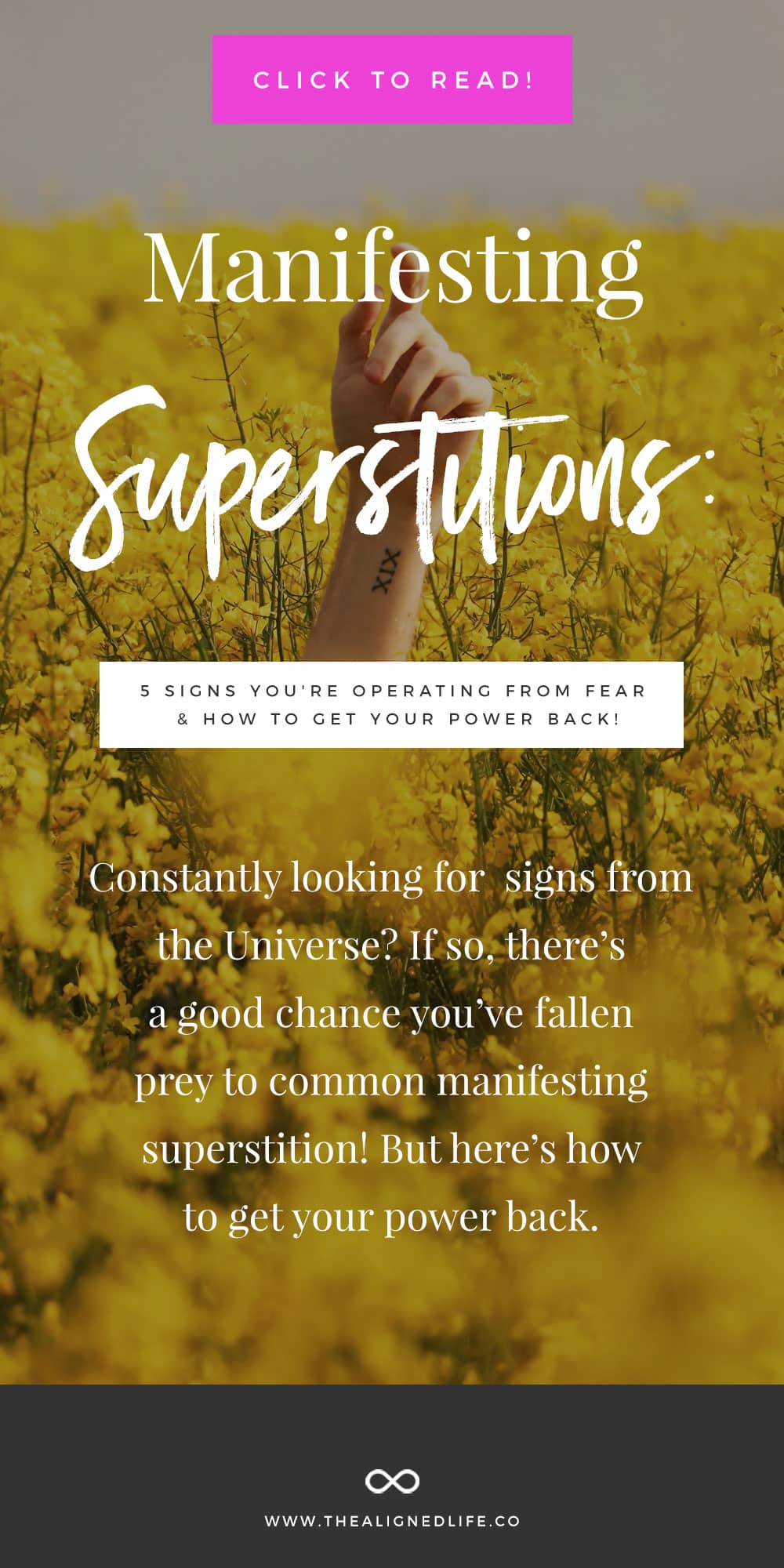 Manifesting Superstitions: 5 Signs You're Operating From Fear & How To Get Your Power Back!