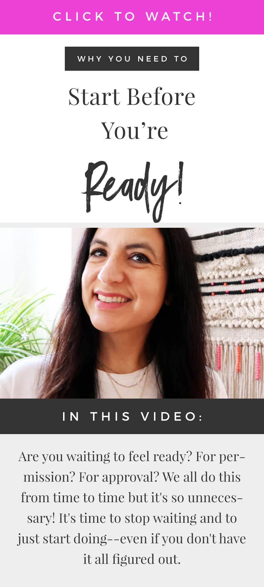 Why You Need To Start Before You're Ready