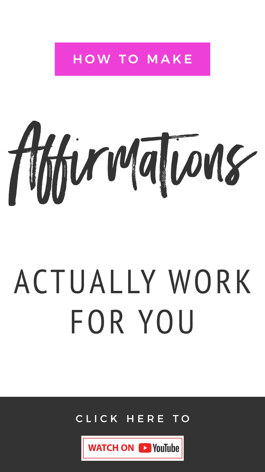 How To Make Affirmations Actually Work For You