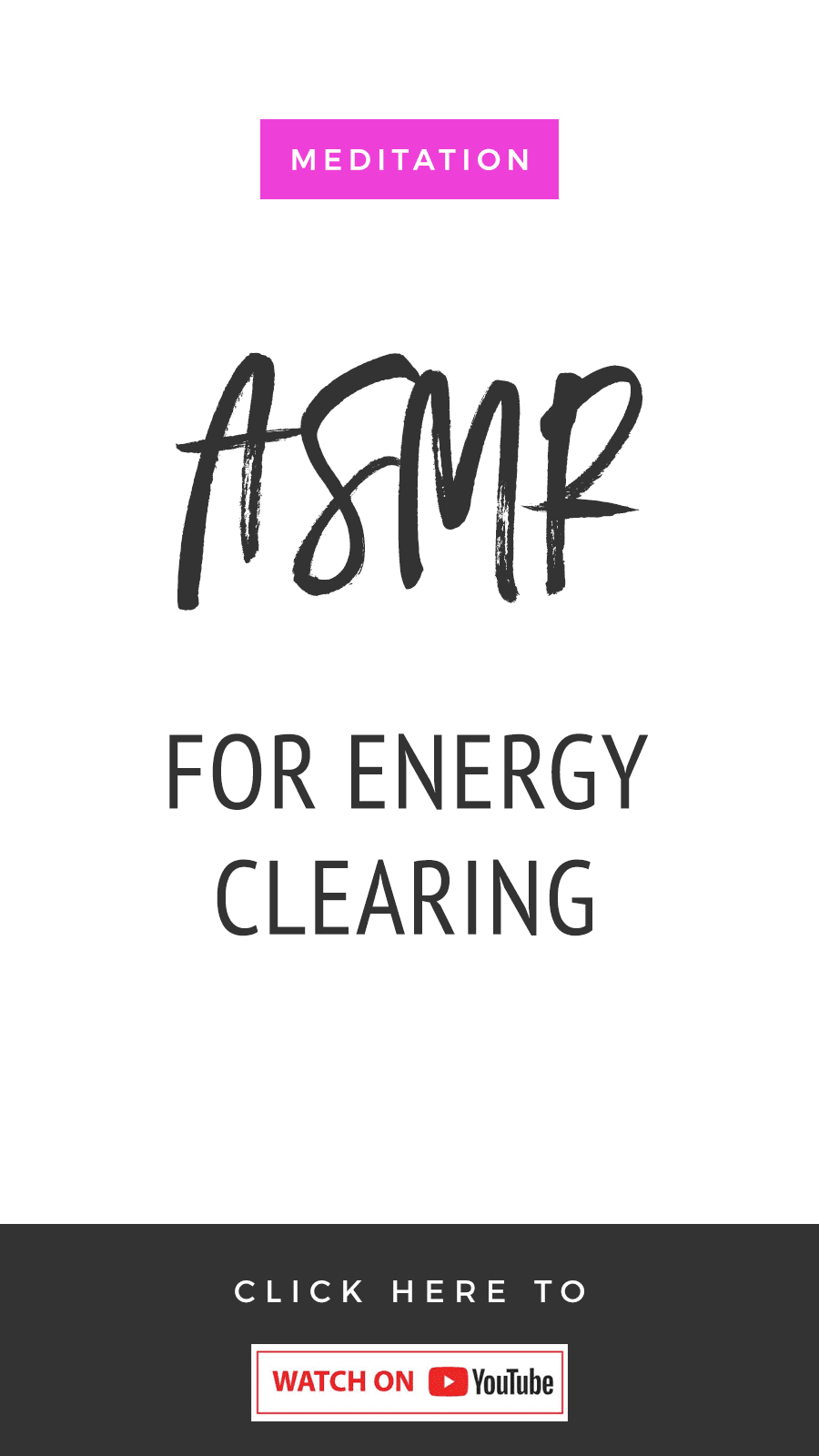 ASMR Meditation For Energy Clearing
