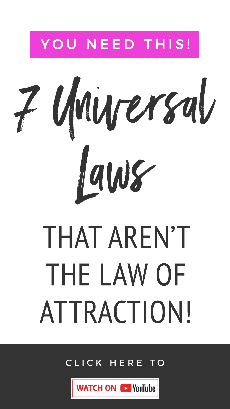 7 Universal Laws That Aren't The Law of Attraction