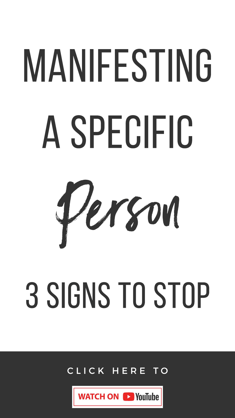Manifesting A Specific Person: 3 Signs To Stop
