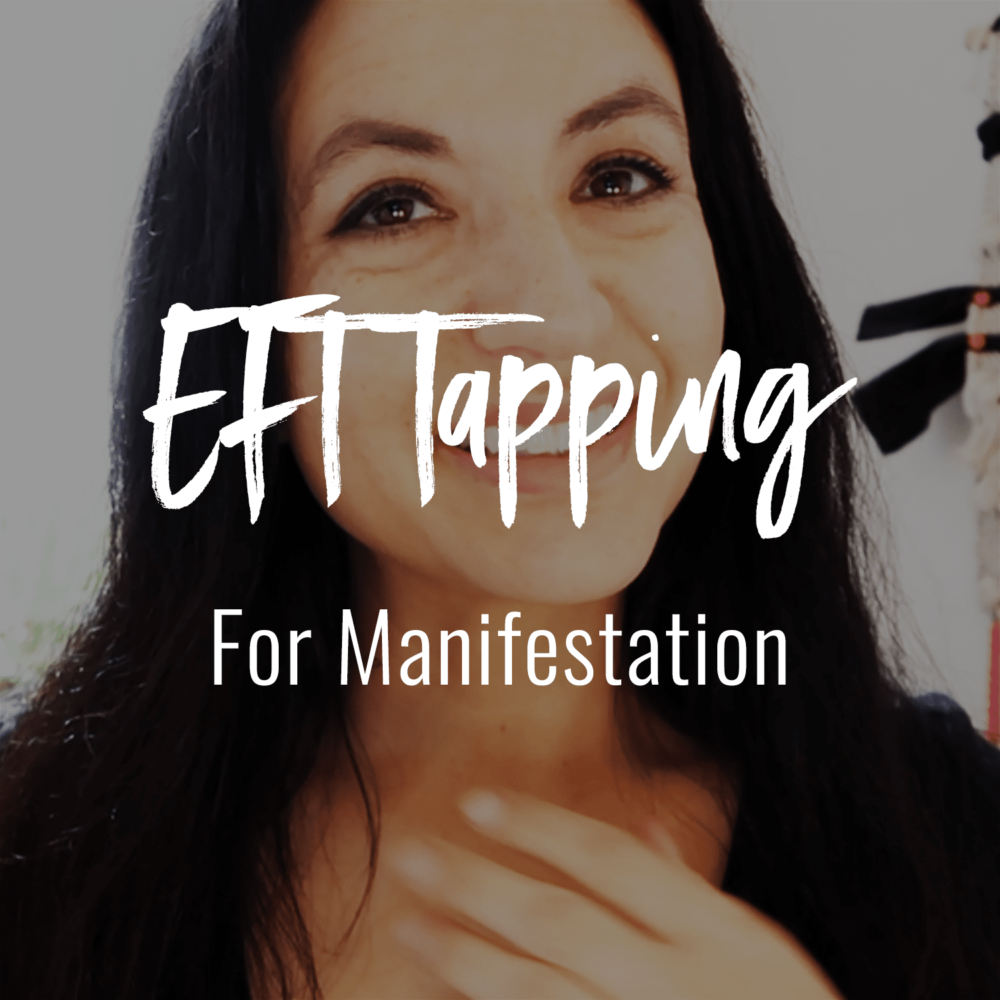 photo of Jenn Stevens with text that reads EFT Tapping For Manifestation