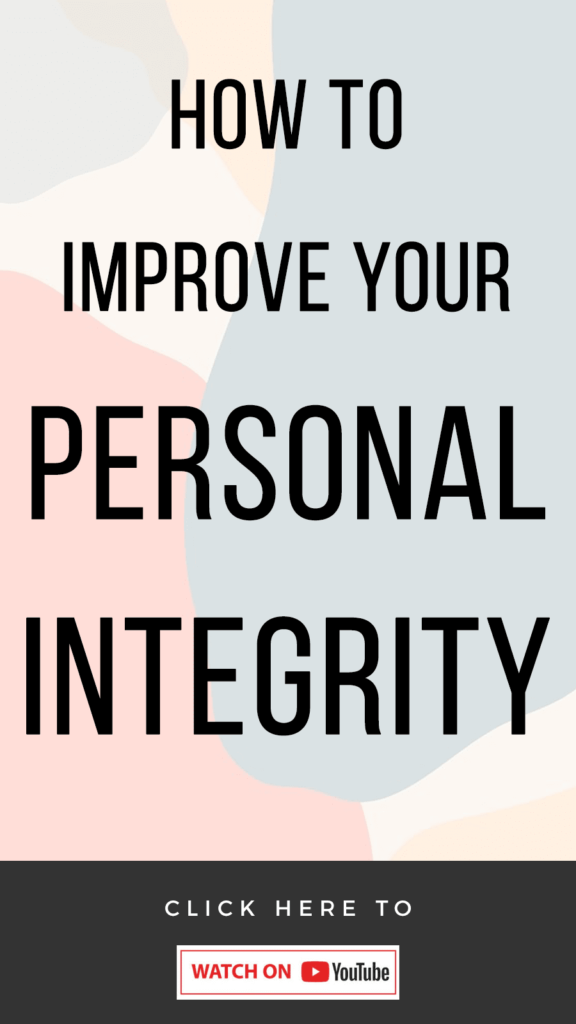 pink abstract background with text that reads How To Increase Your Personal Integrity