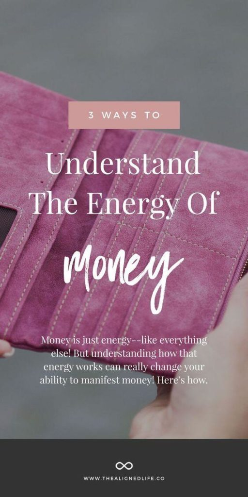 pink wallet with text that reads 3 Ways To Understand The Energy Of Money