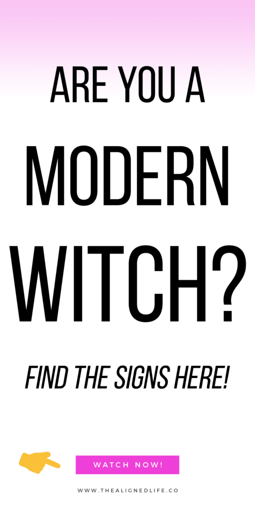 white background with text that reads Are You A Modern Witch? Find 6 Signs Here!