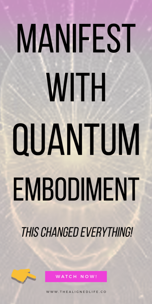 brain background with text that reads Manifest With Quantum Embodiment (This Changed Everything!)