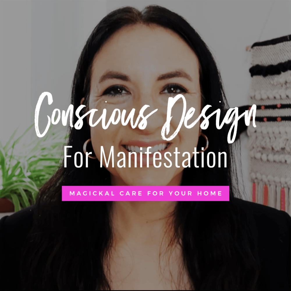 photo of Jenn Stevens with text Conscious Design For Manifestation: How To Harness The Energy In Your Home To Get What You Want