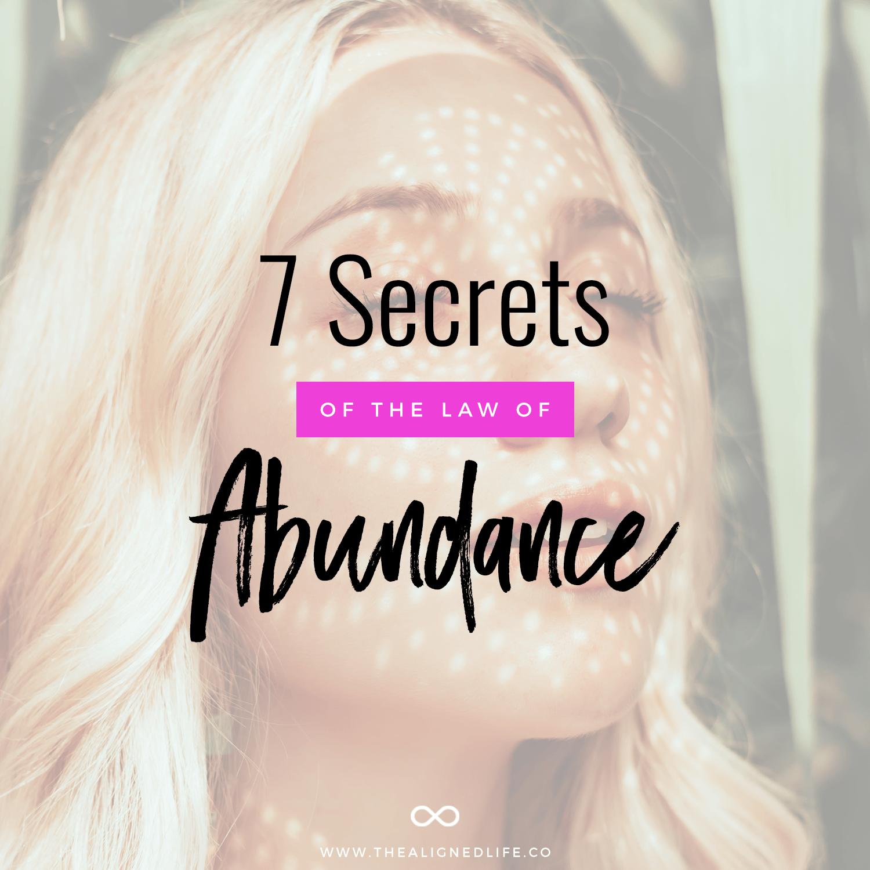 7 Secrets Of The Law of Abundance