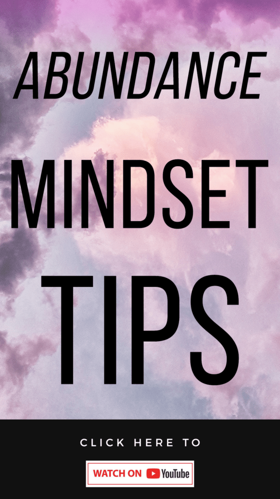 purple background with text How To Cultivate An Abundance Mindset