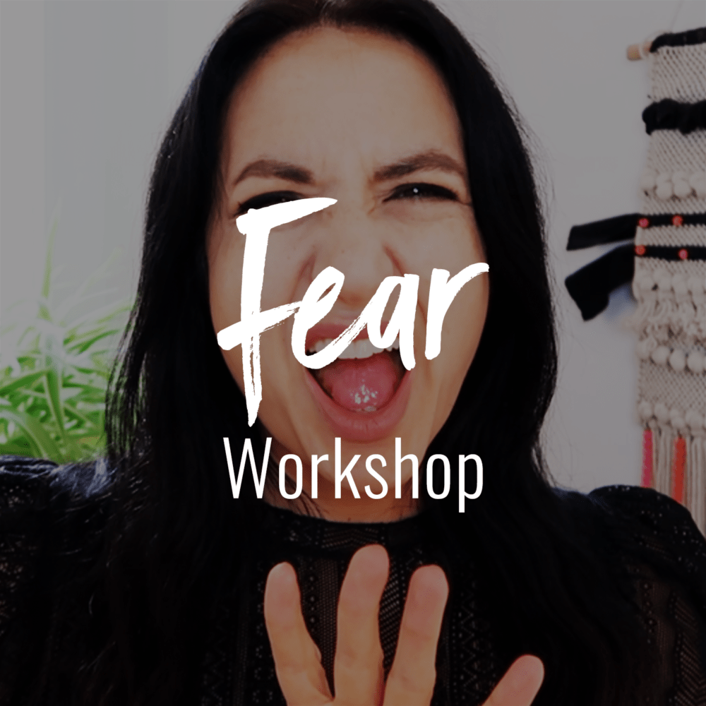 Jenn Stevens with text The Fear Workshop | How To Stop Worrying & Finally Get What You Want